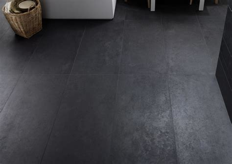 Concrete Dark Grey Matt Porcelain Tile   Floor Tiles from