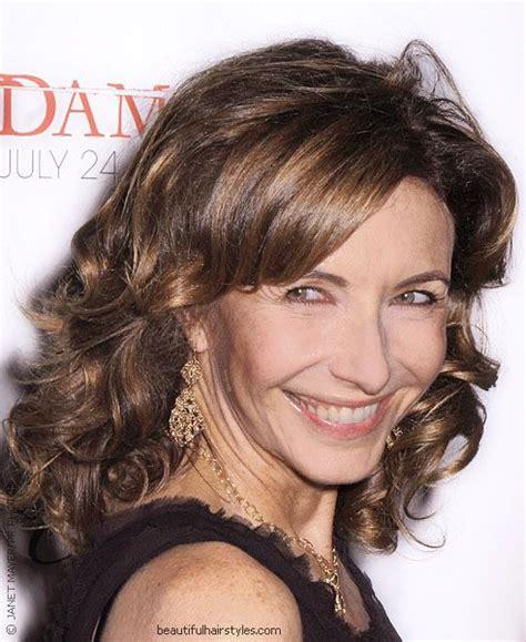 bob haircuts on staten island christine baranski in stylish short hairstyle with dark