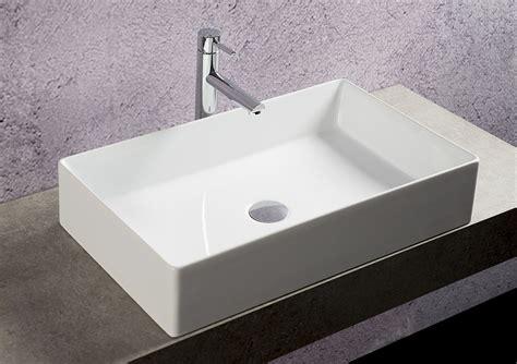 mensola appoggio lavabo lavabo appoggio rettangolare 64x38 cm niger