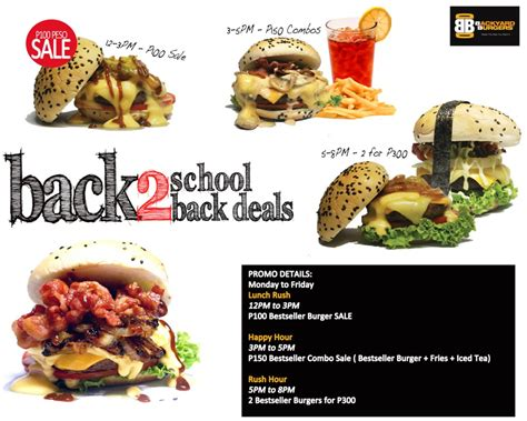 backyard burger coupons backyard burgers back 2 school back2back deals davao
