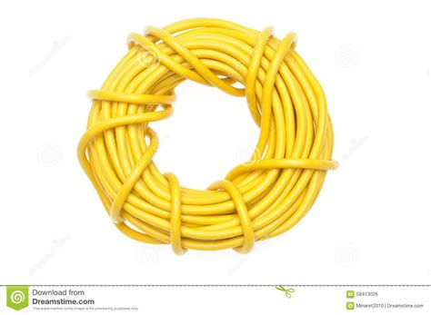 yellow electrical cable yellow electric cable stock photo image 58413026