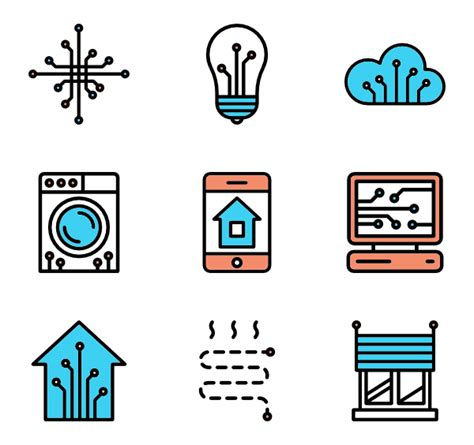 4 home automation icon packs vector icon packs svg