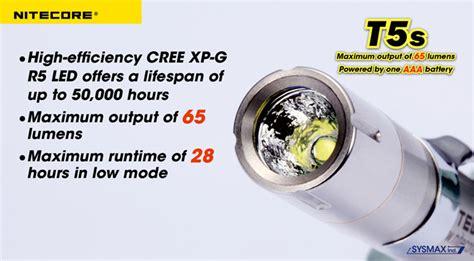 Senter Light Nitecore Mt25 Led Cree Xp G R5 390 Lumens Mura nitecore t5s senter led cree xp g r2 65 lumens silver