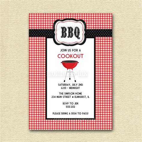 16 free printable cookout invitations template images