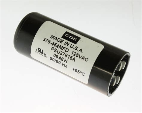 capacitor start motor applications psu37815a cde capacitor 378uf 125v application motor start 2020061512