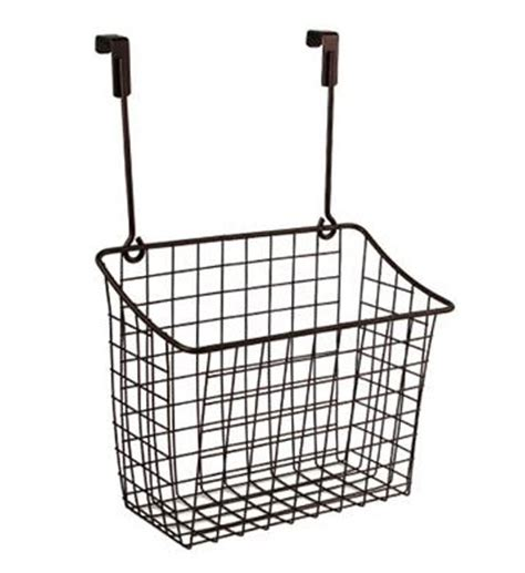Cabinet Door Basket Bronze In Cabinet Door Organizers Cabinet Door Storage Basket