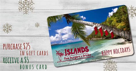 Islands Gift Card - islands restaurant giftcards and more for the holidays giveaway