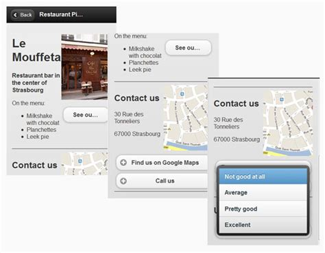 tutorial for jquery mobile jquery mobile tutorial creating a restaurant picker web
