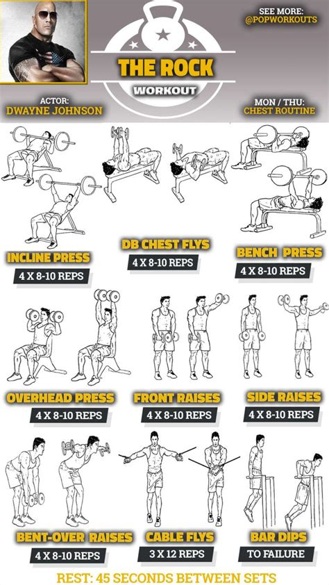 rock the boat workout dwayne the rock johnson chest shoulder workout