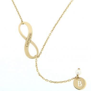 cadenas de oro significado colgante infinito con cadena y nombre en oro joya