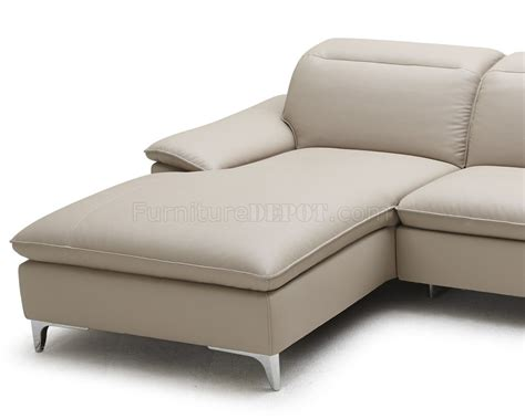 taupe leather couch 1911b sectional sofa in taupe bonded leather by j m