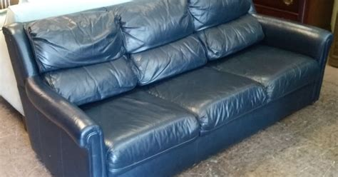 blue leather sofa on sale uhuru furniture collectibles sold 269 glenn furniture