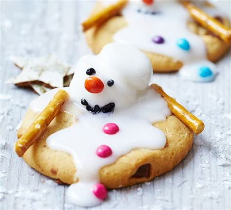 Theme Only Not Include Biscuit melting snowman biscuits recipe food