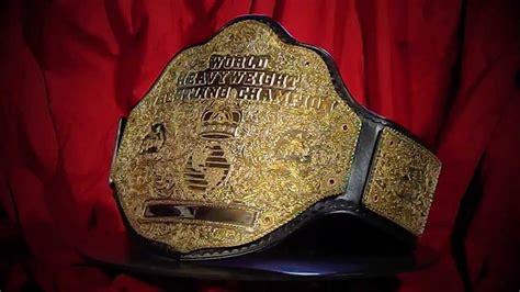 real big gold world heavyweight championship belt