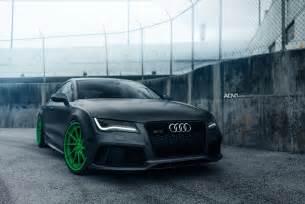 Audi For Sale Ta Audi Rs7 Turns Heads With Green Adv 1 Wheels Gtspirit