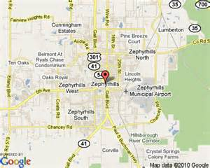 where is zephyrhills florida on the map zephyrhills florida
