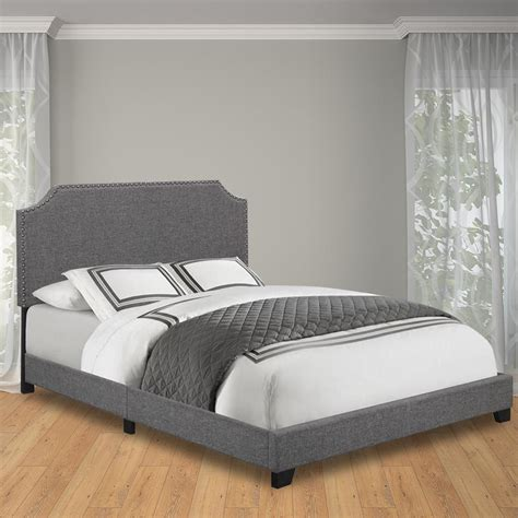 bed frame feet home depot safavieh blanchett linen queen bed frame with headboard in