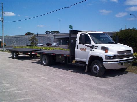 flat bed chevy 4500 flatbed with trailer surplus equipment