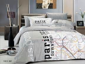 Eiffel Tower Duvet Set Paris Map By Le Vele 6pc Full Queen Duvet Cover Set