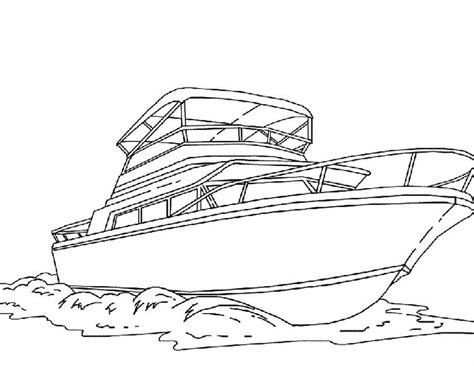 kleuren nu speedboot op zee kleurplaten - Speedboot Kleurplaat