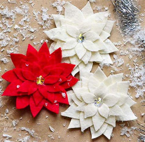 poinsettia craft projects pretty poinsettia pin craft