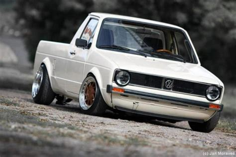 volkswagen rabbit pickup stanced stanced vw caddy car interior design
