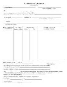 certificate of origin form fill online printable