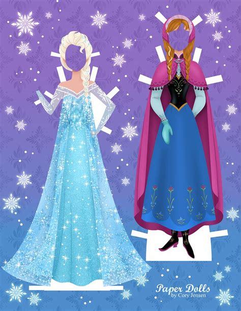 printable frozen paper dolls get these disney inspired frozen paper dolls free