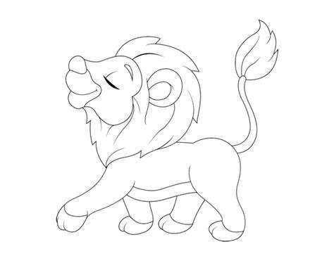 imagenes de leones fasiles desenho de filhote do le 227 o para colorir colorir com