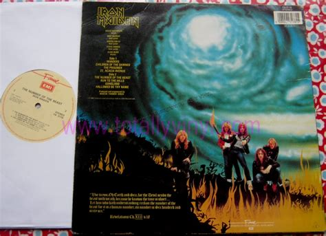 Vinyl Iron Maiden The Number Of The Beast totally vinyl records iron maiden the number of the beast autographed lp vinyl