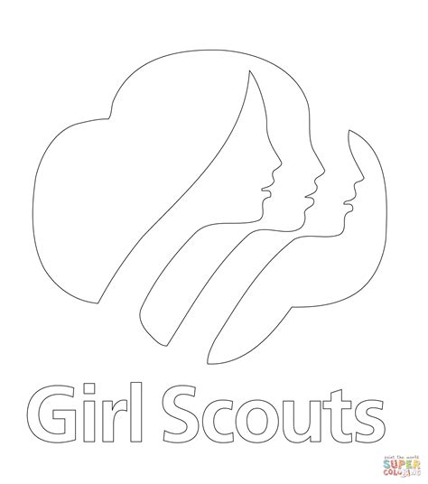 Girl Scouts Logo Coloring Page Free Printable Coloring Pages Scout Printable Coloring Pages Printable