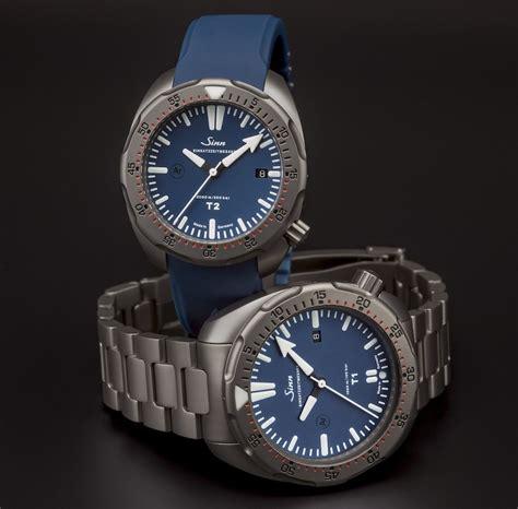 blue dive watches t1 b t2 b dive watches same titanium more blue