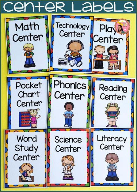 printable interest area signs best 25 center labels ideas on pinterest preschool