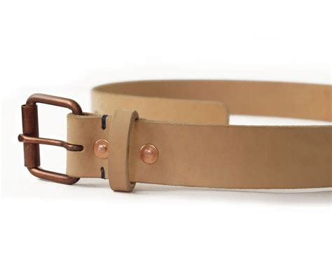 Mens Handmade Leather Belts - mens handmade veg leather belt basader