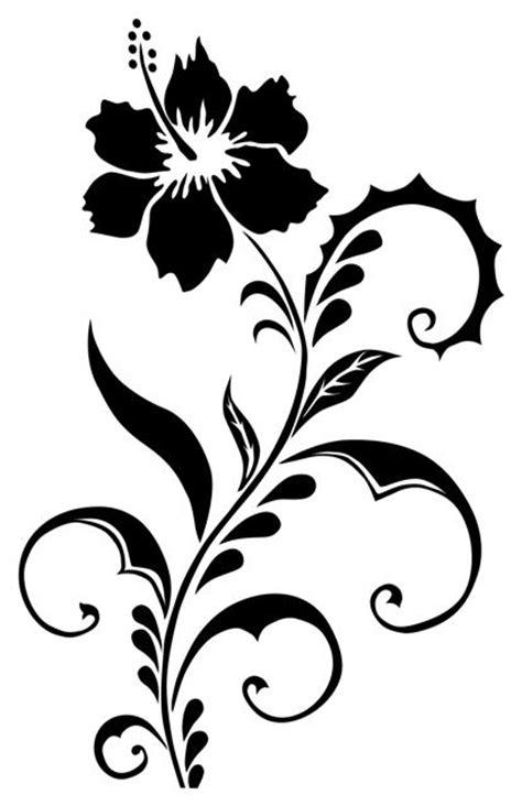 autocollant stickers dco fleur hibiscus 3