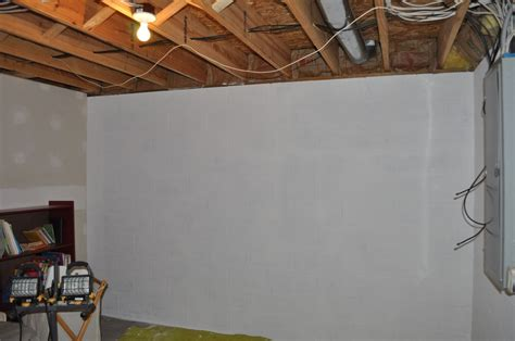 basement concrete wall paint white amazing basement