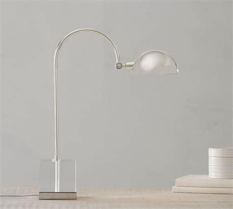 Pb Rugs Acrylic Cube Table Lamp Polished Nickel Pottery Barn
