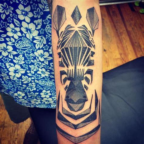 zebra tattoo instagram geometric zebra tattoo by chriskelleytattoos
