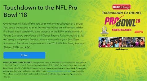 Pro Bowl Sweepstakes - touchdown to the nfl pro bowl 18 sweepstakes win a trip