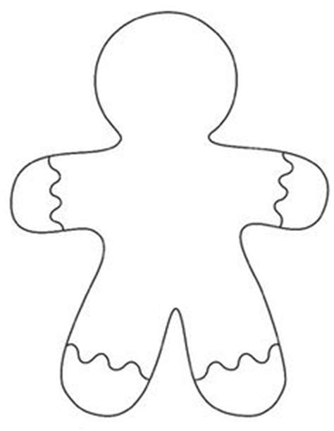 plain gingerbread man coloring page pinterest ein katalog unendlich vieler ideen