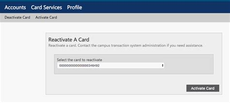 Stolen Gift Card Activation - deactivate a lost or stolen fit id card cus card fit information technology