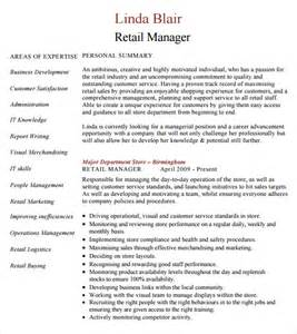 Retail Manager Resume Template by Sle Retail Resume 9 Documents In Pdf Word Psd