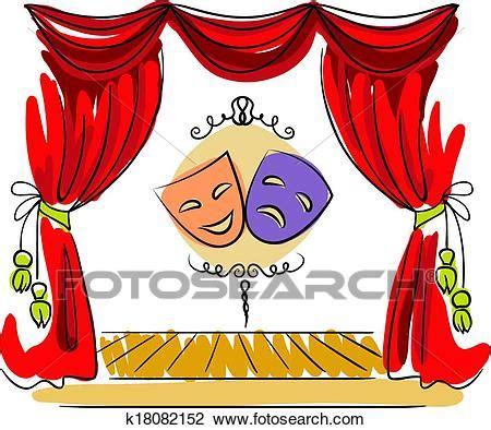 clipart teatro clipart teatro etapa vector ilustraci 243 n k18082152
