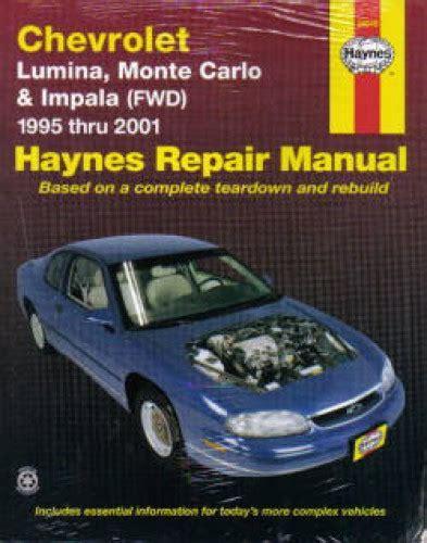 car repair manuals online free 1997 chevrolet monte carlo auto manual haynes chevrolet lumina monte carlo impala 1995 2005 auto repair manual