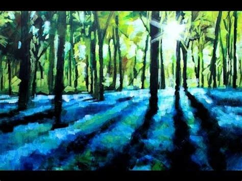 acrylic painting forest tutorial how to paint with acrylics on canvas abstract landscape
