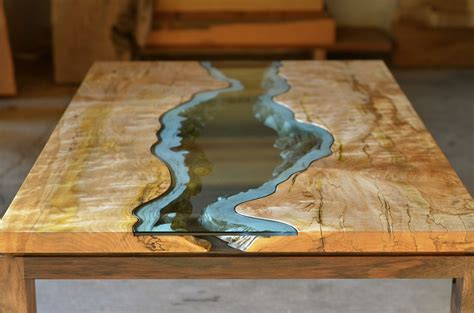 wood and resin table reclaimed wood tables with embedded rivers by greg klassen