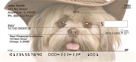shih tzu checks shih tzu portrait personal checks