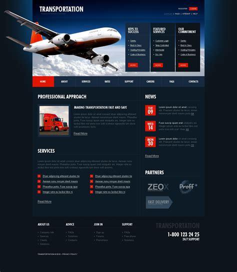 transportation website template 28268