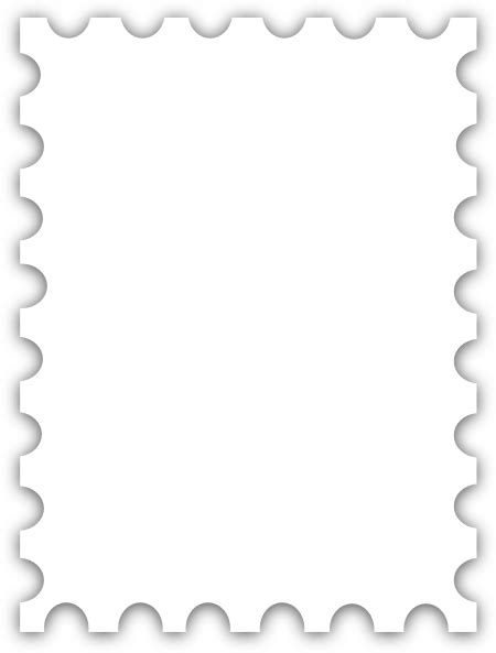 Blank Postage St Template Dedicated To Susi Tekunan By R D Miccahofman Clip Art At Clker Com Postage St Template Photoshop