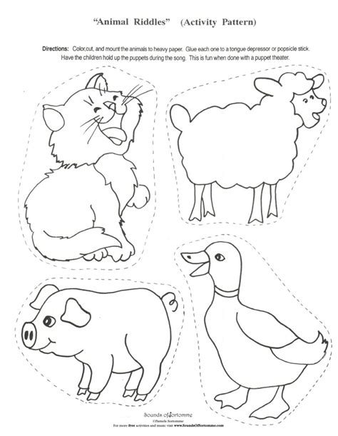 best photos of farm animal templates for preschool farm